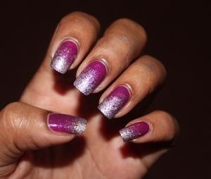 Purple Lilac glitter nails : http://www.bellezzabee.com/2012/08/purple-glitter-nails.html