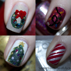 My Christmas-y Skittles!  http://samariums-swatches.blogspot.com/2011/12/christmas-y-skittles-picture-heavy.html