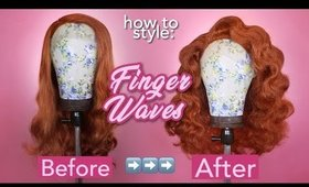 How to Style Finger Waves | Drag Queen Wig