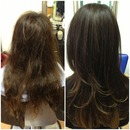 Brazilian Blowout Before&After