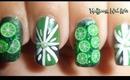 Nail Art 3D Fimo Cute Green Limes! / Diseño de limones verdes