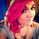 Hot pink curls!