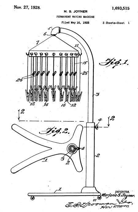 Photo: Majorie S. Joyner, Patent US1693515