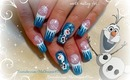 Disney FROZEN Inspired, OLAF the Snowman, Winter Nails, Tutorial - ♥ MyDesigns4You ♥