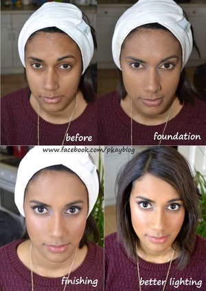 from start to finish for my friend Davina, it is a day make-up look. Knowing her I realise that she has never really put lots of make-up on before. So we decided to keep it very natural by enhance her natural beauty. Basic foundation, cream blusher, eye-liner, highlight and contour, she is good to go xx