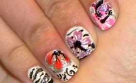 Summer Flower Girly Nail Art