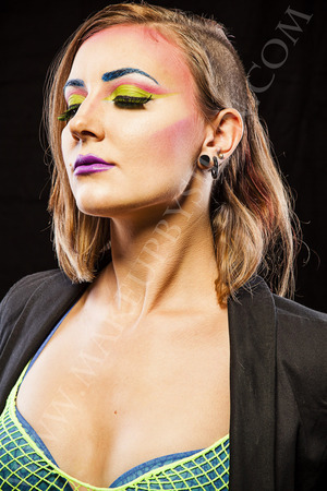 New Romantics inspired look. Makeup: Me/Make Up By Siryn Model: Zee Lustrum Photography: Greg De Stefano