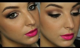Neutral Glam with Electric Pink Lips | Makeup Tutorial ♥