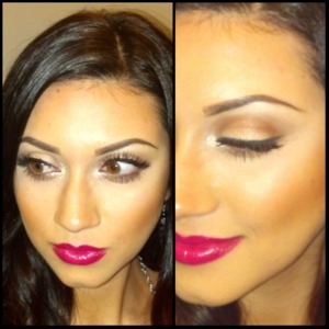 Natural makeup, contoured, highlighted and a bright lip. Always makes for a good day. Follow me on instagram @madeup_mama
