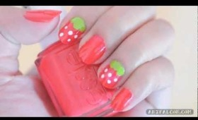 Cute & simple strawberry nails tutorial