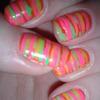 Neon candy nail art