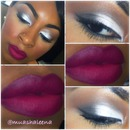 White eyeshadow RiRi Hearts MAC Heaux lipstick