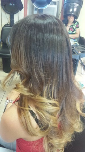 With soft wave curls