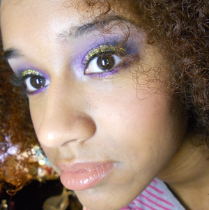 Glitter and purple shadow visit my blog: http://superbeautyguru.hostei.com :)