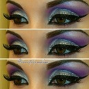 Dramatic Purple Glitter Look.