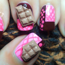 Delicious 3D Chocolate Bar Nail Art