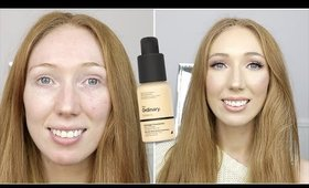 £5 THE ORDINARY FULL COVERAGE FOUNDATION!   First Impression on OILY SKIN!