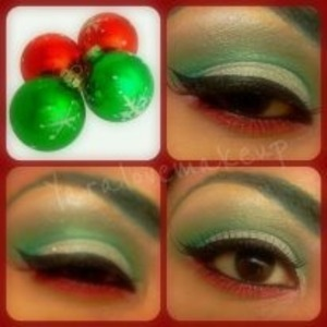 red ,silver n green using my 120 palette