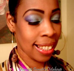 Purple and periwinkle blue eyeshadow