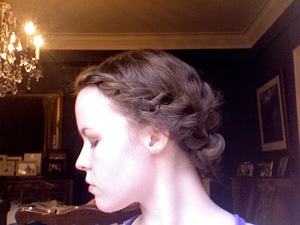 no hair prep, just rope braided my naturally wavy/frizzy hair.