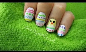 Easter Eggs & Baby Chick Nails!