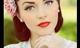 CLASSIC VINTAGE INSPIRED MAKEUP TUTORIAL!!!