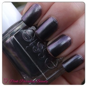 A Grey based polish shot with pink & green