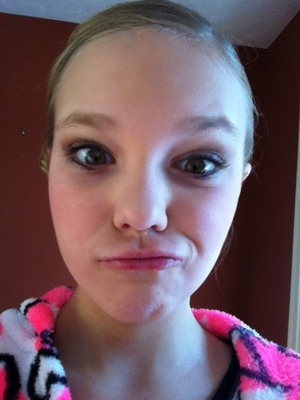 Me in my dance competition make up without lips ! Like it???