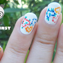 Spring Dotted Hearts Nail Art