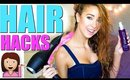 10 HAIR HACKS Every Girl Should Know! (Heat Free)