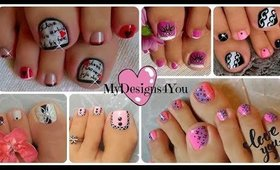 My Toe Nail Art Compilation For Valentine's Day  ♥