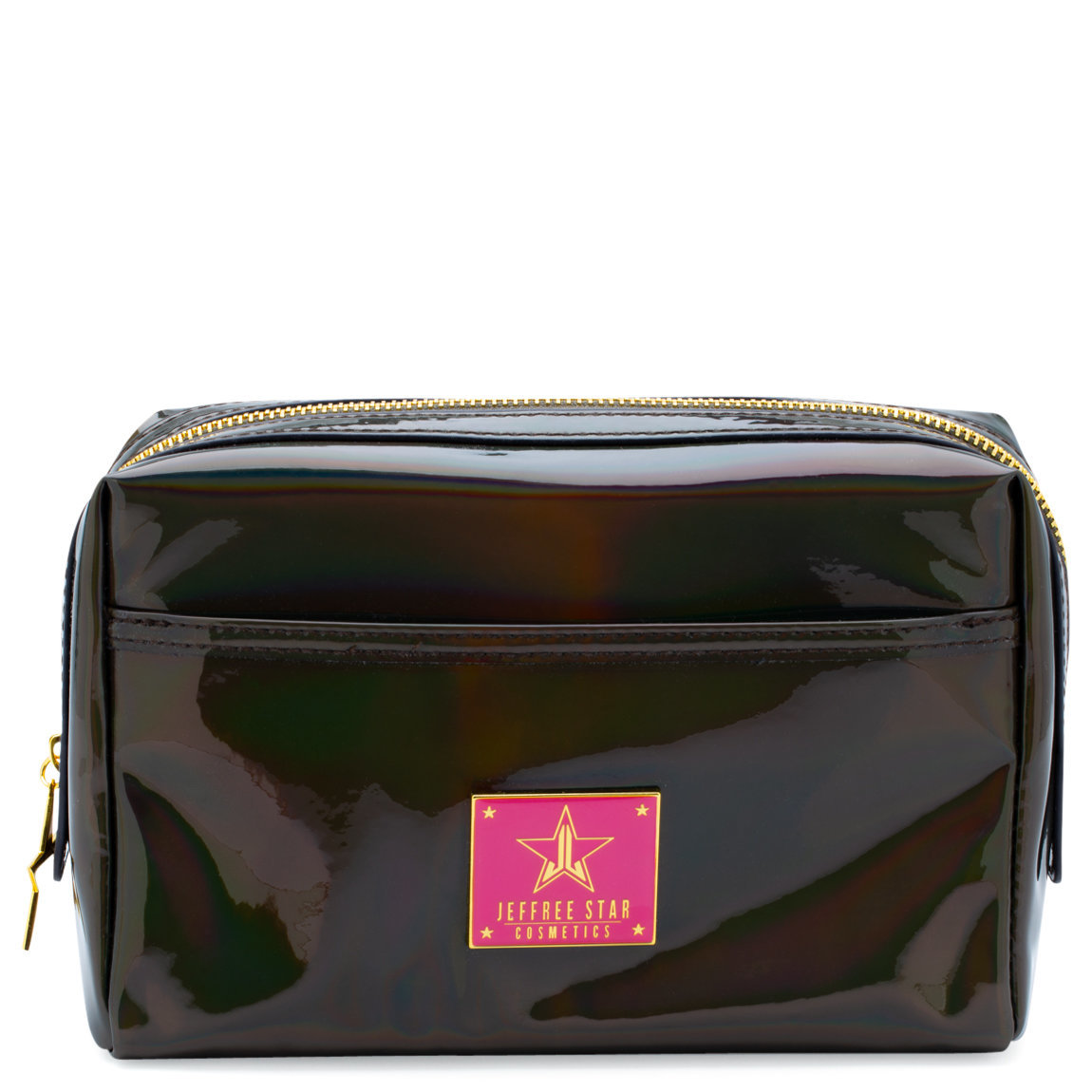 Jeffree Star Cosmetics Makeup Bag Holographic Black product swatch.