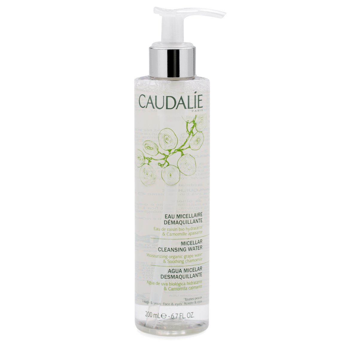 Caudalie Micellar Cleansing Water 200 ml product smear.