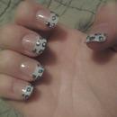 blue cheetah nails
