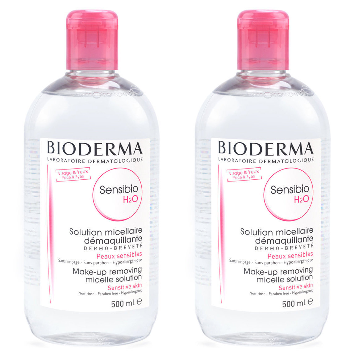 Bioderma Sensibio H2O 500 ml Duo product smear.