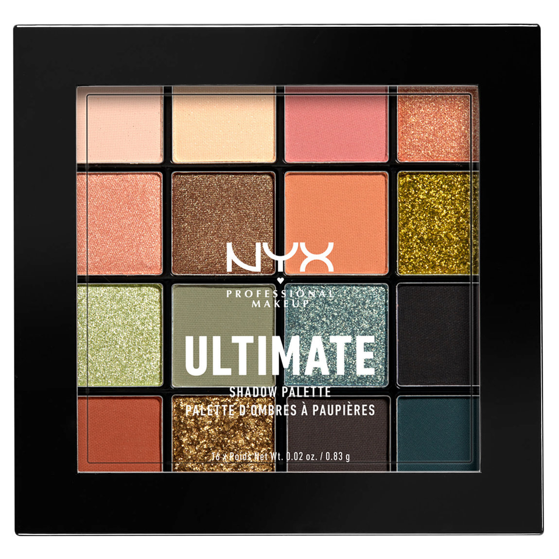 NYX Professional Makeup Ultimate Shadow Palette Ultimate Utopia alternative view 1 - product swatch.