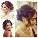 bridal celebrity hair