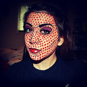 Third attempt, pop art makeup! :]