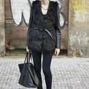 Brief Black Faux Fur Gilet