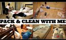 PACK & CLEAN WITH ME | LET THE CHAOS BEGIN