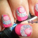 Beautiful Tinsel Rhinestones Nail Art