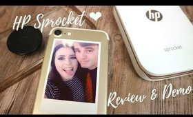 HP Sprocket Portable Photo Printer Review and Demo