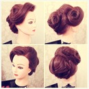 Bridal bun and front side quiff
