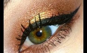 Golden Sunset eyeshadow= TUTORIAL