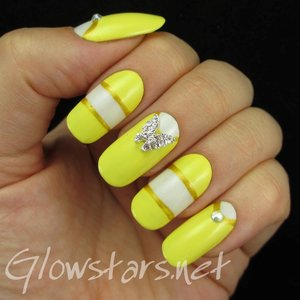 Read the blog post at http://glowstars.net/lacquer-obsession/2014/09/color-blocking-and-butterfly-charms/