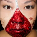 Unzipped zipper face