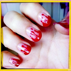 My bloody nails. Such an easy one to do.
