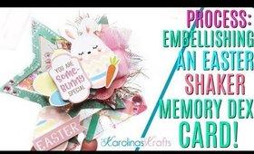Easter Layered Shaker Memory Dex PROCESS VIDEO, Easter Shaker Memdex, CHUNKY Memory Dex Card DAY 3
