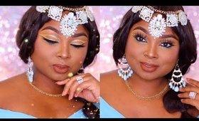 Princess Jasmine Makeup tutorial  - DIY HALLOWEEN TUTORIAL - Queenii Rozenblad