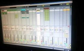 Memory Splice in Studio working on new track.